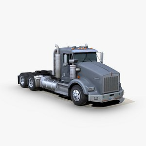 t800 semi truck 3D model