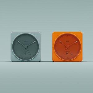 braun white clock 3D model