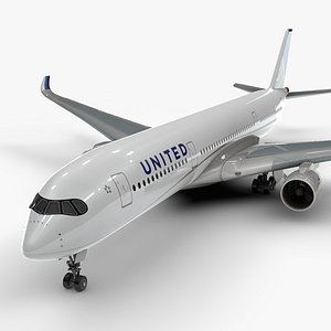 a350-900 united airlines l1091 model