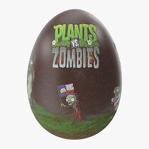 3D Easter Egg Chocolate Plants Vs Zombies V2 model