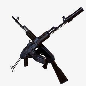 3D Moddable AK-47 model