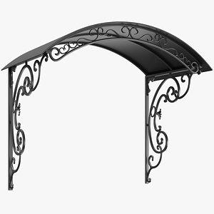 3D canopy metal model