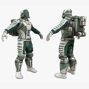 3D medic doctor paramedic character