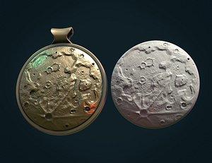 moon pendant 3D model