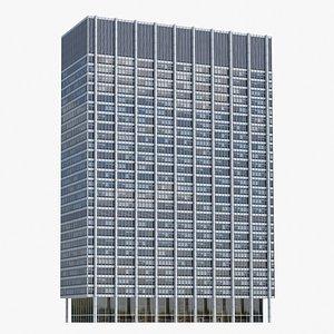 3D One Chase Manhattan Plaza V3 model