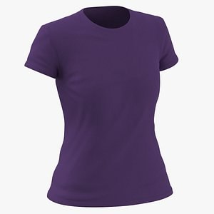 Female Crew Neck Worn Purple model