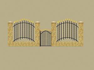 fence iron model