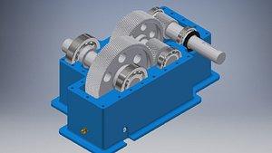 3D gearbox gear