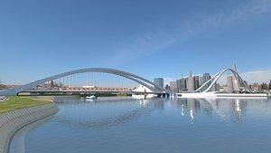 3D model dubai bridge