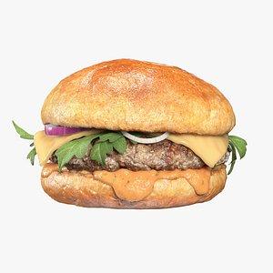 3D burger arugula