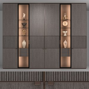 3D model rimadesio modulor cabinet
