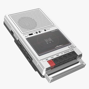 QFX RETRO 39 Shoebox Tape Recorder Silver 3D model