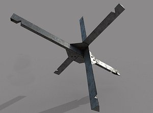 Anti-tank hedgehog model