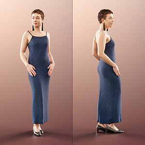 woman gown classy 3D model