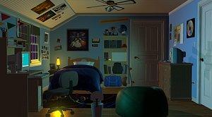 teen bedroom rooms 3D