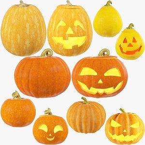 Halloween Pumpkins Family Mega Collection V1 3D