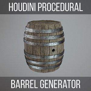 Wooden Barrel HDA 3D model