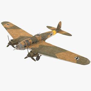 3D model heinkel 111 german bomber