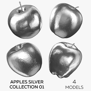 Apples Silver Collection 01 - 4 models 3D