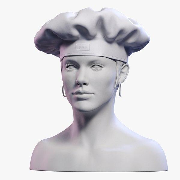 Chef's Toque 3D model