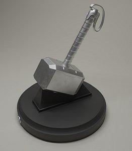 Thor's Hammer Mjolnir 3D model
