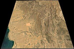 FREE Mecca and the Red Sea coast of Saudi Arabia - tile model 3D model