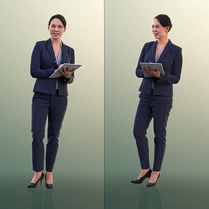 3D model 10551 Bao - Business Woman Taking Notes