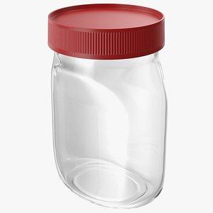 3D model Empty Glass Pot