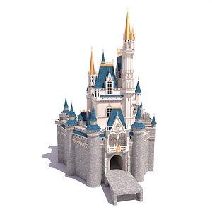 3D cinderella castle