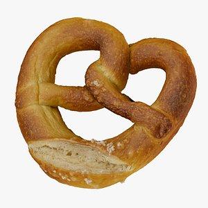 3D model pretzel food snack