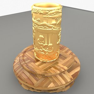 chinese pencil holder 3D model