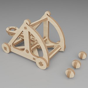 3D plywood wood constructor model