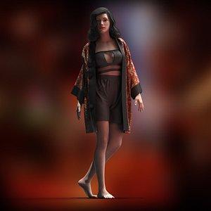 chinese Kimono model