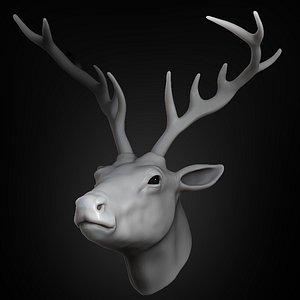 deer head animal 2021 3D model