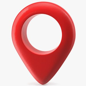 3D red pointer maps symbol