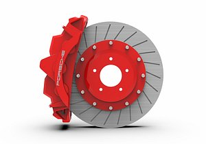 3D model porsche brake caliper disk