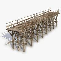 Modular Wooden Bridge 27 3D Model