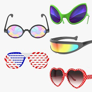 Party Sunglasses Collection 3 3D model