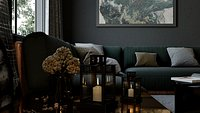 Dark Living Room Corona