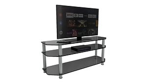 Tv and Table 3D model