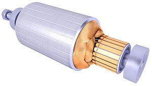 3D rotor electric motor