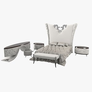 3D elledue bedroom set model
