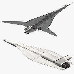 3D model super sonic airliner