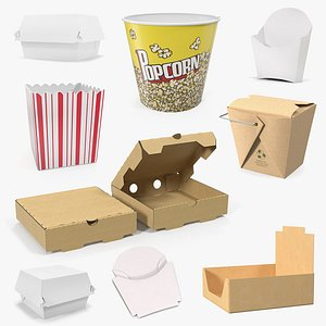 3D Fast Food Containers Collection 3 model