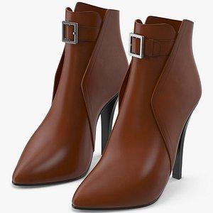 Leather Boots Women 3 3D model