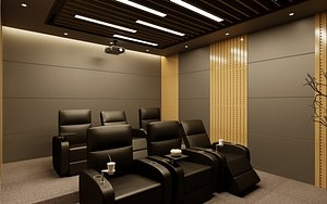 3D model room home theater