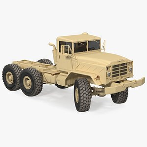 3D M939 Military Truck Light Rigged