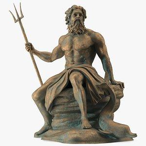 Bronze Poseidon Sculpture model