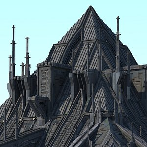 spaceship pyramids 3D model