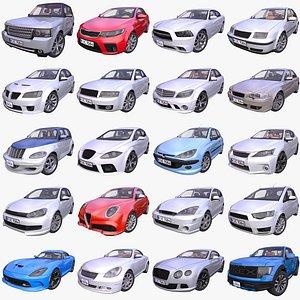 Mega Pack of 20 Generic Passenger cars - 3 model